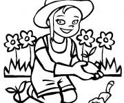 Coloriage et dessins gratuit Petite jardinière à imprimer