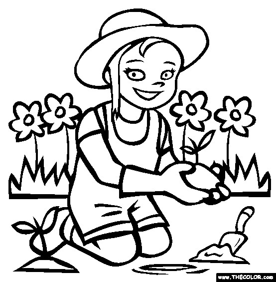 Coloriage et dessins gratuits Petite jardinière à imprimer