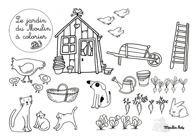 Coloriage et dessins gratuits petites bêtes jardin à imprimer