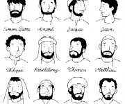 Coloriage et dessins gratuit Disciples de Jésus à imprimer