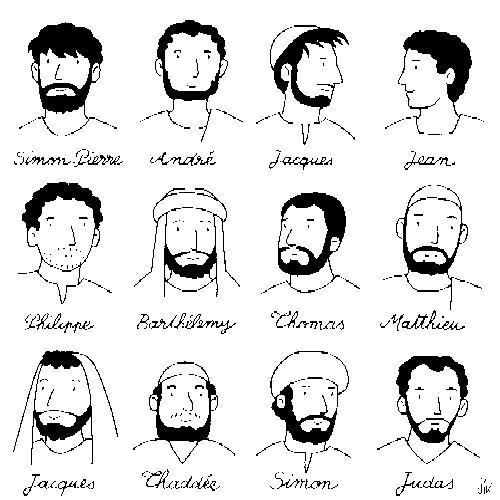 Coloriage et dessins gratuits Disciples de Jésus à imprimer