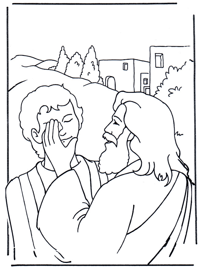 Coloriage et dessins gratuits Guérisons de jésus à imprimer