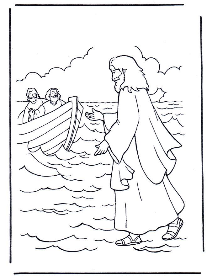 Coloriage et dessins gratuits Illustration Jésus Christ à imprimer
