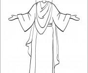 Coloriage et dessins gratuit Jésus à colorier à imprimer