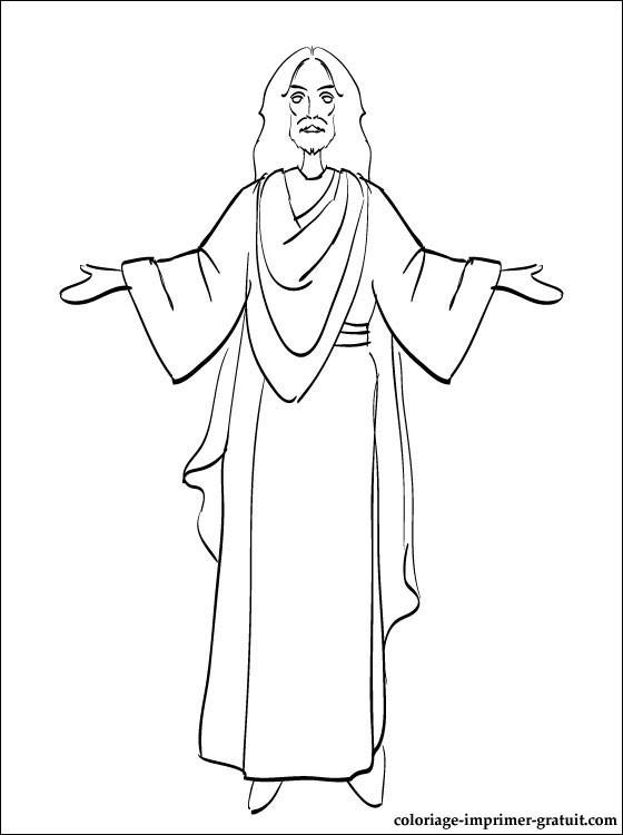Coloriage et dessins gratuits Jésus à colorier à imprimer