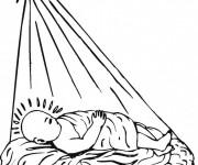 Coloriage et dessins gratuit Jésus Bébé à imprimer