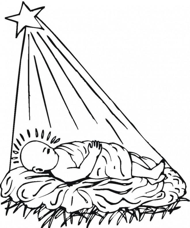 Coloriage et dessins gratuits Jésus Bébé à imprimer