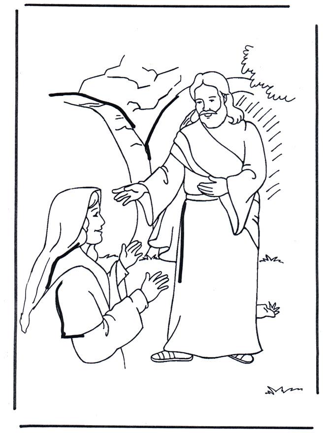 Coloriage et dessins gratuits Jésus Biblique à imprimer