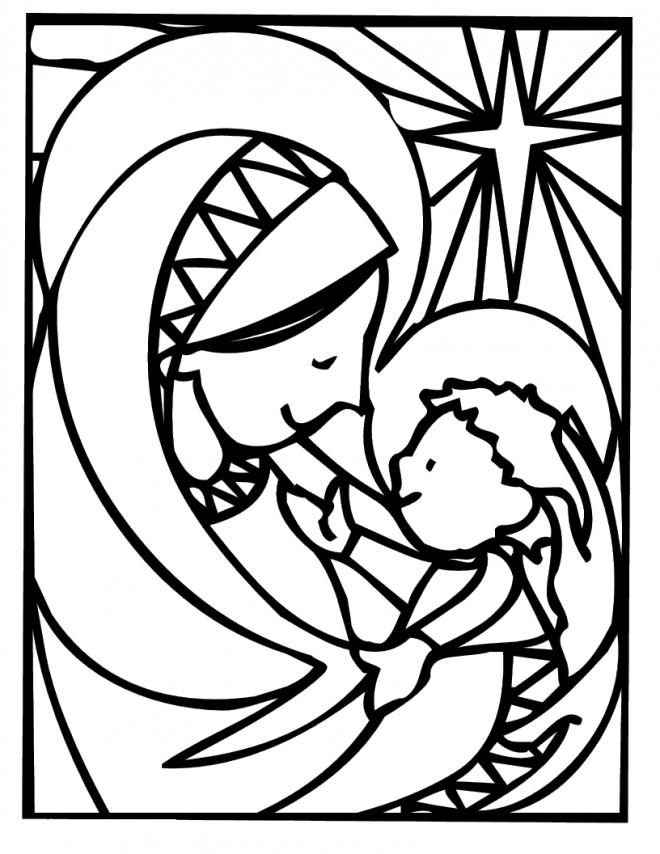 Coloriage et dessins gratuits Jésus Catéchisme à imprimer