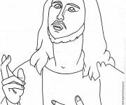 Coloriage et dessins gratuit Jésus Christ à imprimer
