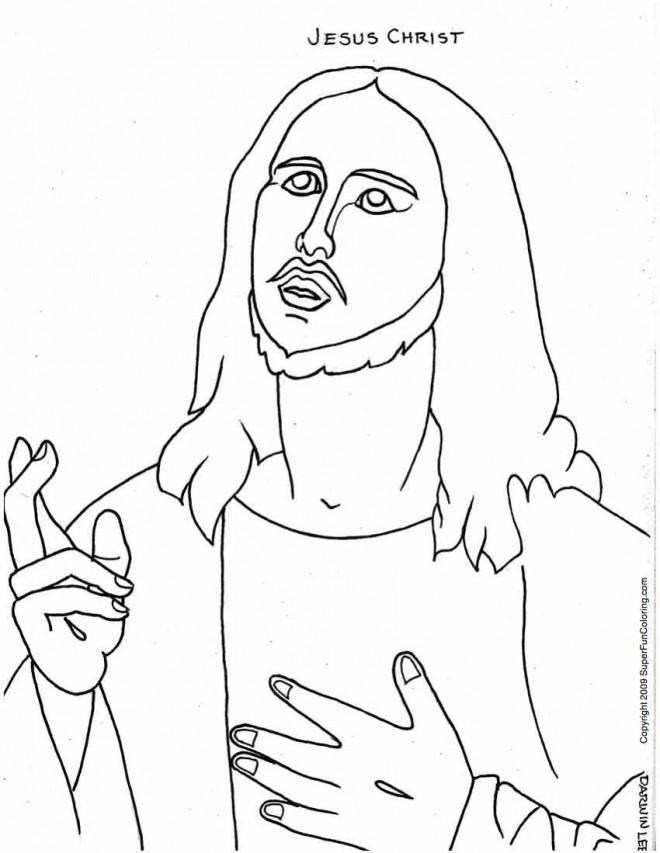 Coloriage et dessins gratuits Jésus Christ à imprimer