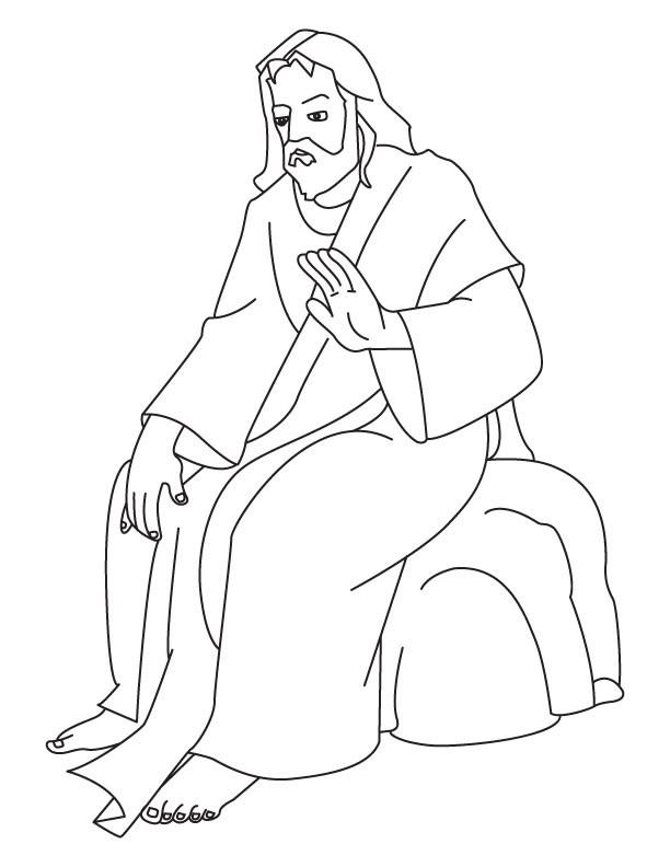 Coloriage et dessins gratuits Jésus Christ à décorer à imprimer