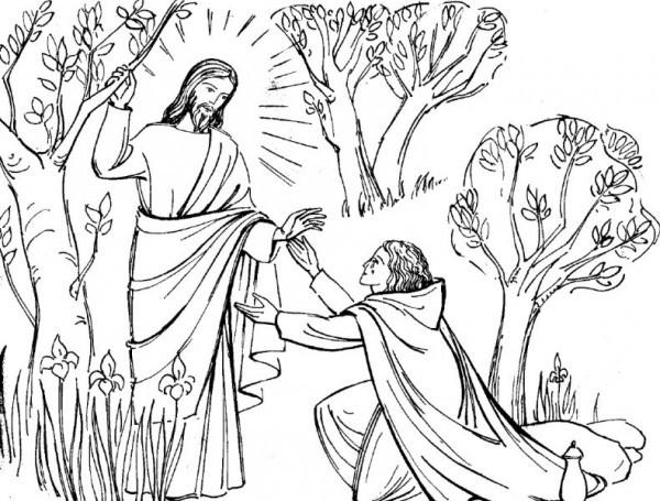 Coloriage et dessins gratuits Jésus Christ à découper à imprimer