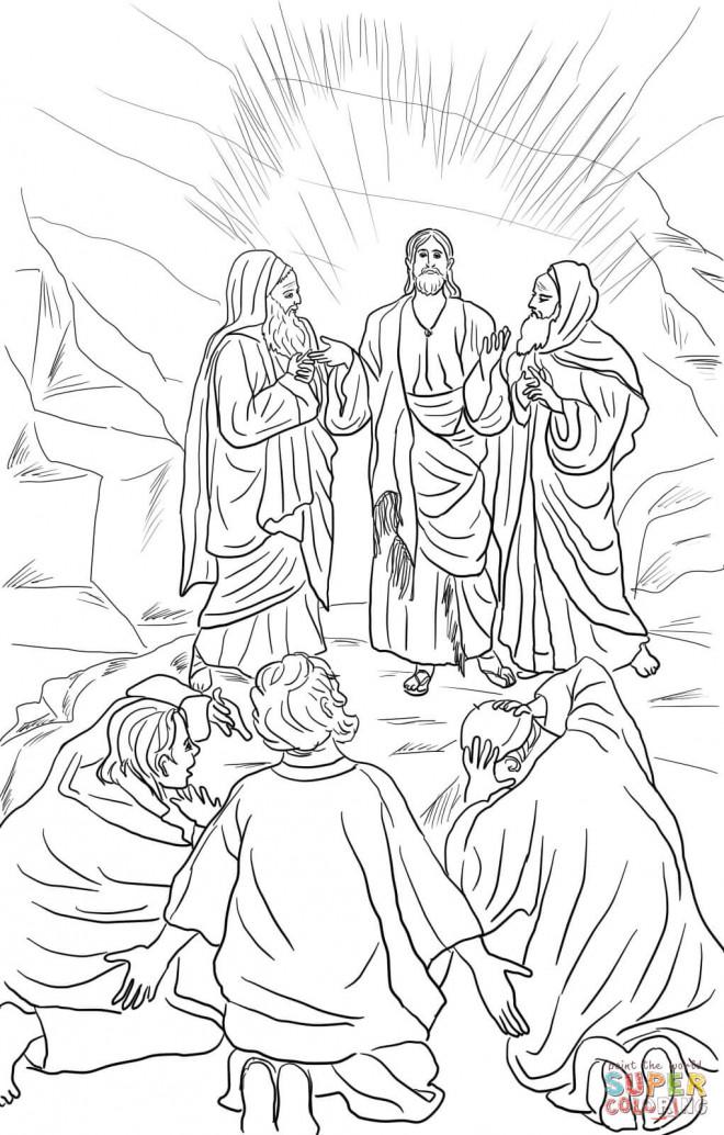 Coloriage et dessins gratuits Jésus Christianisme à imprimer