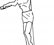 Coloriage et dessins gratuit jésus crucifié à imprimer