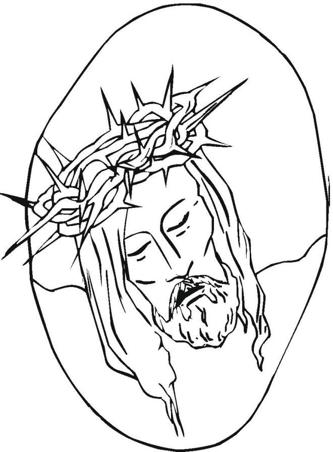 Coloriage et dessins gratuits Jésus de Nazareth à imprimer
