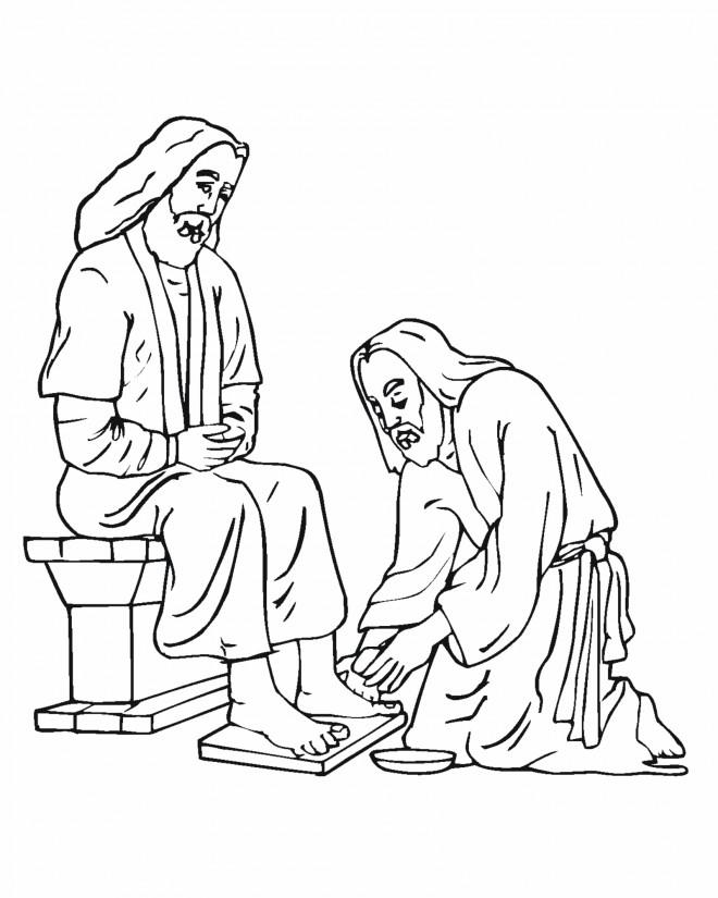 Coloriage et dessins gratuits Jésus de Nazareth Le Seigneur à imprimer
