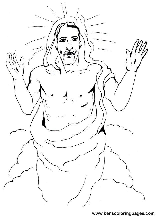 Coloriage et dessins gratuits Jésus de Nazareth stylisé à imprimer