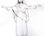Coloriage et dessins gratuit Jésus en couleur à imprimer