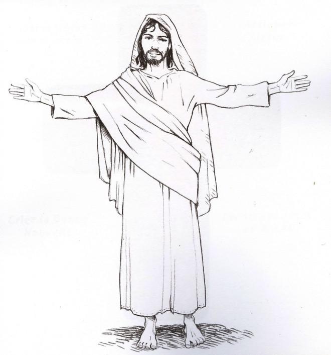 Coloriage et dessins gratuits Jésus en couleur à imprimer
