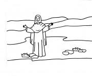 Coloriage et dessins gratuit Jésus en Ligne à imprimer