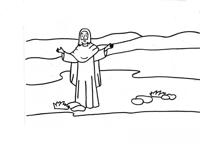 Coloriage et dessins gratuits Jésus en Ligne à imprimer