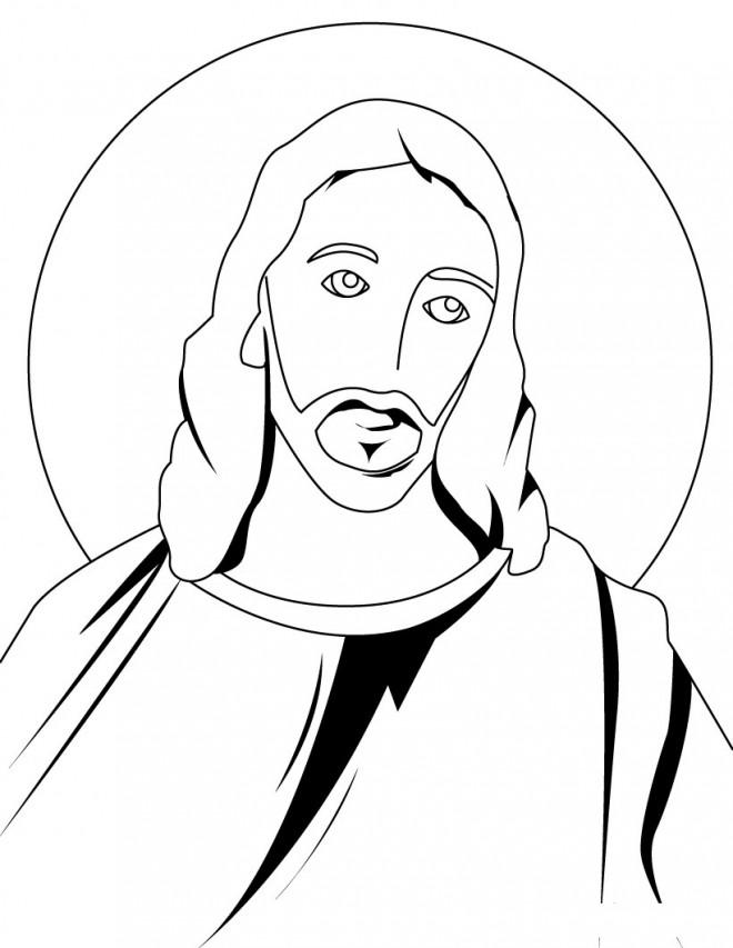 Coloriage et dessins gratuits Jésus en vecteur à imprimer