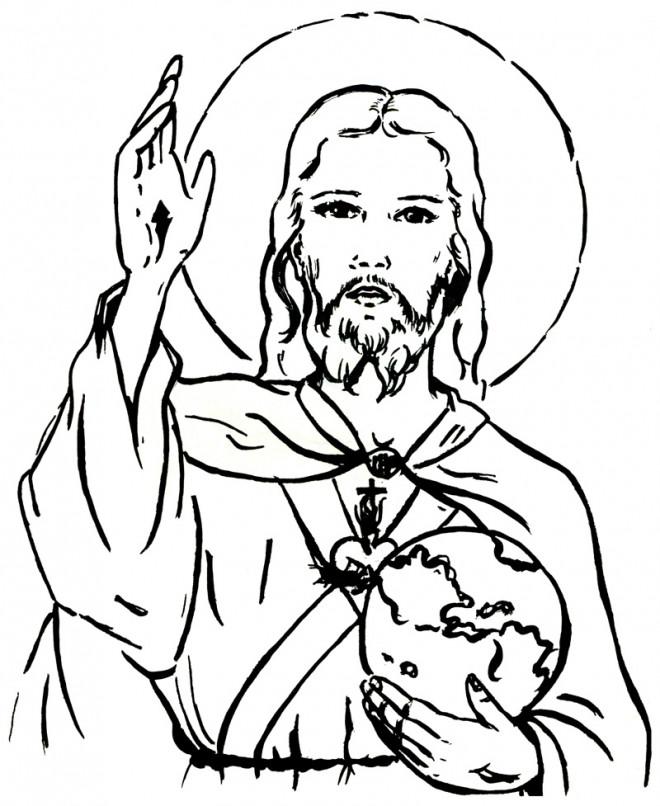 Coloriage et dessins gratuits Jésus Enseignement à imprimer