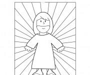 Coloriage et dessins gratuit Jésus est mon ami à imprimer