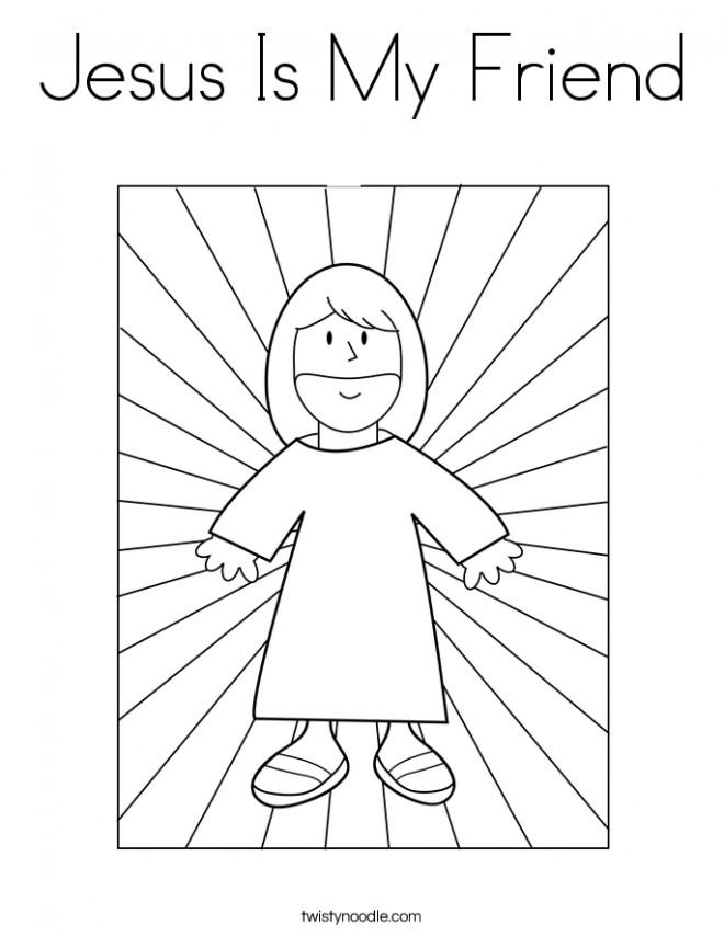 Coloriage et dessins gratuits Jésus est mon ami à imprimer