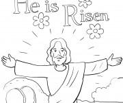 Coloriage et dessins gratuit Jésus est ressuscité à imprimer