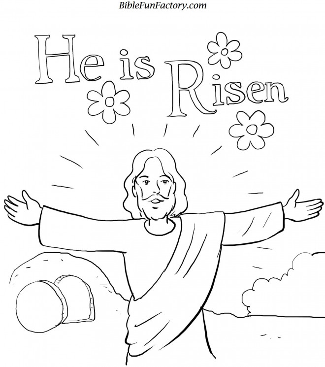 Coloriage et dessins gratuits Jésus est ressuscité à imprimer