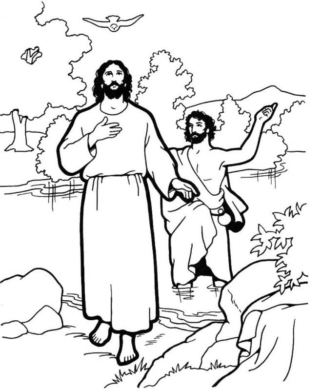 Coloriage et dessins gratuits Jésus et Ses Disciples en vecteur à imprimer