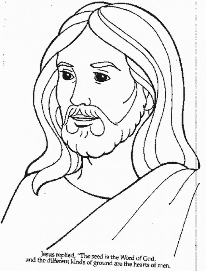 Coloriage et dessins gratuits Jésus facile à imprimer