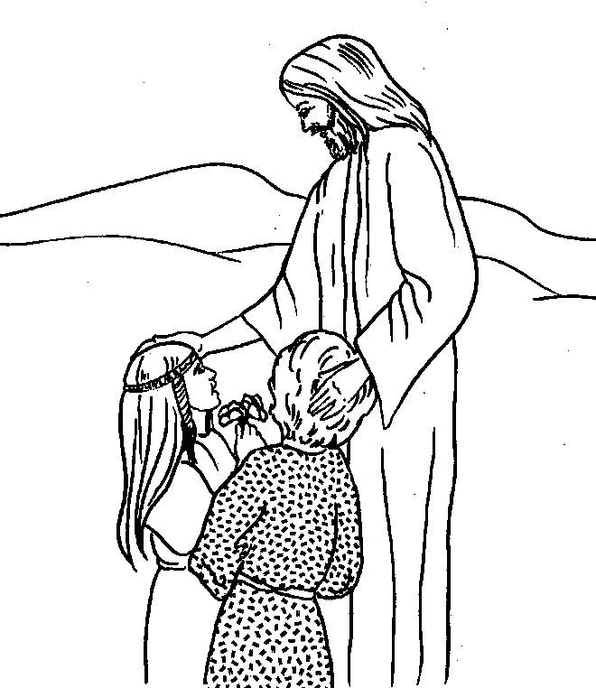 Coloriage et dessins gratuits Jésus source d'amour à imprimer