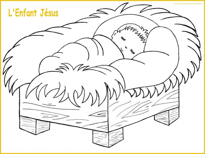 Coloriage et dessins gratuits L'Enfant Jésus à imprimer