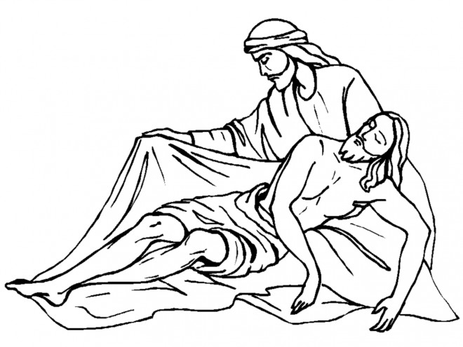 Coloriage et dessins gratuits La Crucifixion de Jésus à imprimer