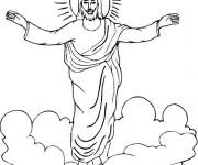 Coloriage et dessins gratuit La Résurrection de Jésus à imprimer