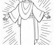 Coloriage et dessins gratuit la résurrection de Jésus à découper à imprimer