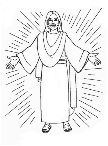 Coloriage et dessins gratuits la résurrection de Jésus à découper à imprimer