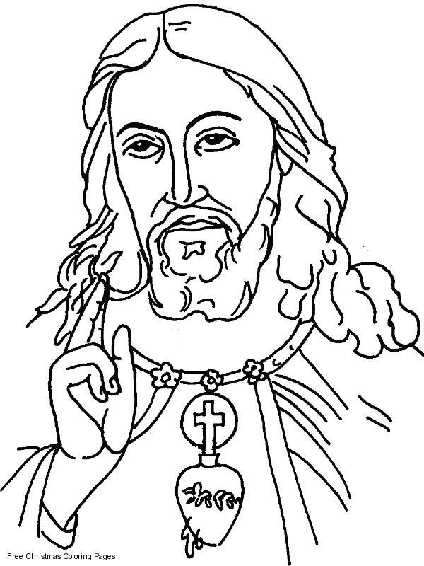 Coloriage et dessins gratuits Le Regard de Jésus Christ à imprimer