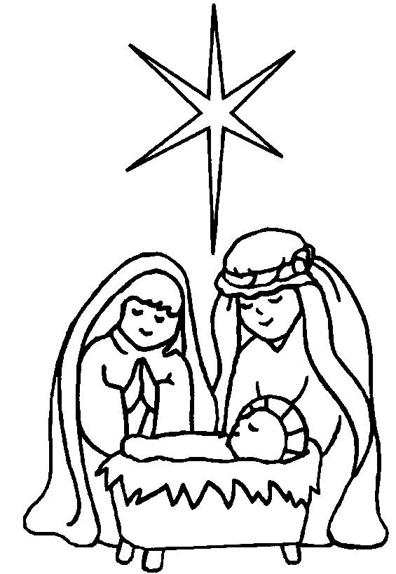 Coloriage et dessins gratuits Petit Jésus Catholicisme à imprimer