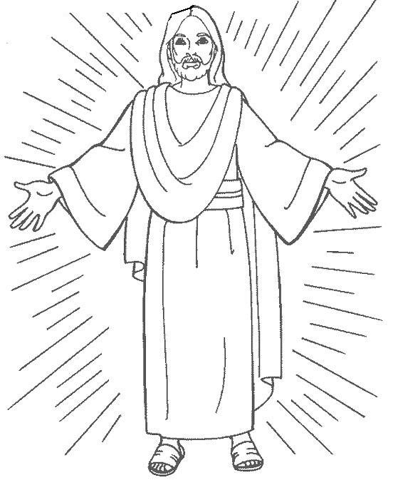 Coloriage et dessins gratuits Résurrection de Jésus maternelle à imprimer