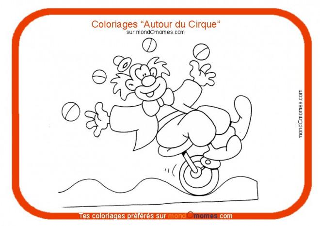 Coloriage et dessins gratuits Autour du Cirque à imprimer