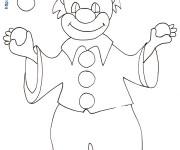 Coloriage dessin  Clown 68