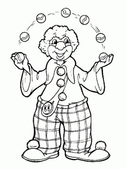 Coloriage et dessins gratuits Jongleur à colorier à imprimer