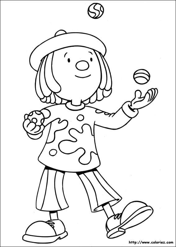 Coloriage et dessins gratuits Jongleur à découper à imprimer