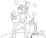 Coloriage et dessins gratuit Jongleur amusant à imprimer