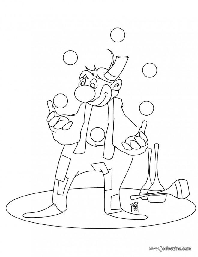 Coloriage et dessins gratuits Jongleur amusant à imprimer