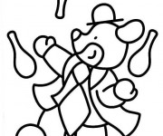 Coloriage et dessins gratuit Jongleur Animaux à imprimer